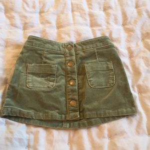 OshKosh 12m Olive Green Curdoroy skirt